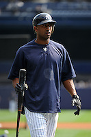 New York Yankees infielder Eduardo Nunez #26 during a game against the Baltimore Orioles at Yankee Stadium on September 5, 2011 in Bronx, NY.  Yankees defeated Orioles 11-10.  Tomasso DeRosa/Four Seam Images