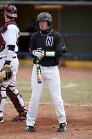 March 22nd 2009:  Center Fielder Cam Stykemain (7) of the Niagara University Purple Eagles during a game at Sal Maglie Stadium in Niagara Falls, NY.  Photo by:  Mike Janes/Four Seam Images