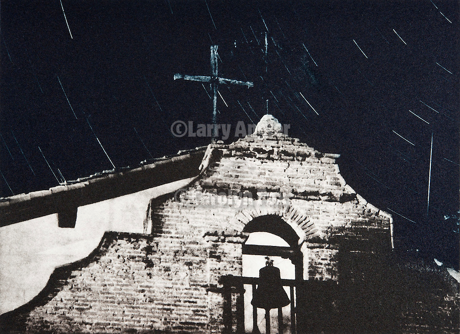 Annie Pike, Mission with Star Trails..Mission San Antonio de Padua Portfolio.Photographed April 2011 and published September 2011...