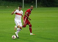 22nd August 2020; Saalfelden, Austria; Pres-season football friendly, Liverpool versus Stuttgart;   Mateo Klimowicz VfB Stuttgart controls the ball away from Fabinho FC Liverpool