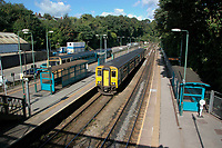 Pictured: Radyr Railway Station in Cardiff, Wales, UK.<br /> Re: Train conductor Nigel Lawless, who failed to see a passenger fall in a gap between the train and platform before giving the signal for the driver to depart Radyr railway station in Wales, is on trial at Cardiff Crown Court, Wales, UK.<br /> Lawless, 56, was working on a Transport for Wales train when it pulled into the station in Cardiff on July 25, 2019, but when the train began to depart, he was unaware that passenger Gavin Davies had fallen onto the track.<br /> Mr Davies had been out drinking in Cardiff city centre on a retirement do and was stuck between train and the platform as it began to leave the station, but a woman alerted the train driver and prevented a tragedy.
