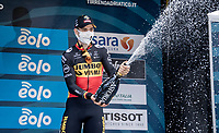Wout van Aert (BEL/Jumbo-Visma) wins the closing time trial, his 2nd stage win of the 2021 Tirreno-Adriatico, where he also finishes 2nd in the GC<br /> <br /> Final stage 7 (ITT) from San Benedetto del Tronto to San Benedetto del Tronto (10.1km)<br /> <br /> 56th Tirreno-Adriatico 2021 (2.UWT) <br /> <br /> ©kramon