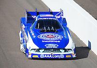 Oct. 16, 2011; Chandler, AZ, USA; NHRA funny car driver Robert Hight during the Arizona Nationals at Firebird International Raceway. Mandatory Credit: Mark J. Rebilas-