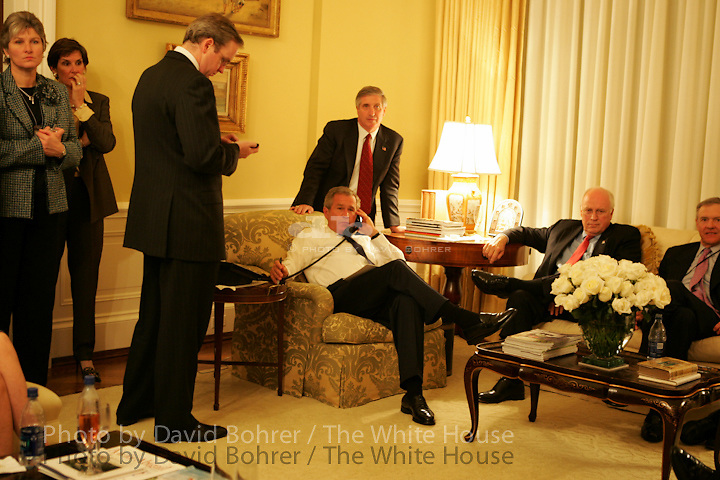 DIGITAL: RC: 0300- watches the Election results with the President. Residence