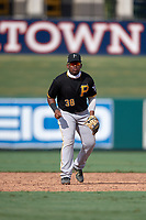 Pittsburgh Pirates third baseman Alexander Mojica (38) during a Florida Instructional League game against the Detroit Tigers on October 16, 2020 at Joker Marchant Stadium in Lakeland, Florida.  (Mike Janes/Four Seam Images)