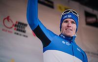 Franch National Champion Arnaud Démare (FRA/FDJ) finishing 2nd today<br /> <br /> 70th Kuurne-Brussel-Kuurne 2018<br /> Kuurne › Kuurne: 200km (BELGIUM)