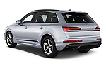 Car pictures of rear three quarter view of 2020 Audi Q7 S-Line 5 Door SUV Angular Rear