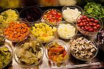 Salad Bar, II Vegetariano Restaurant, Florence, Tuscany, Italy