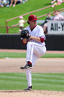 Wisconsin Timber Rattlers relief pitcher Taylor Floyd (24) delivers a pitch during a game against the West Michigan Whitecaps on May 22, 2021 at Neuroscience Group Field at Fox Cities Stadium in Grand Chute, Wisconsin.  (Brad Krause/Four Seam Images)