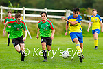 Javier Cayoni Killorglin gets his shot away despite the attention of Cillian Horan and Jack Power Camp during their game in Killorglin on Friday