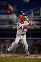 Auburn Doubledays center fielder Nick Choruby (4) at bat during a game against the Batavia Muckdogs on September 6, 2017 at Dwyer Stadium in Batavia, New York.  Auburn defeated Batavia 6-3.  (Mike Janes/Four Seam Images)