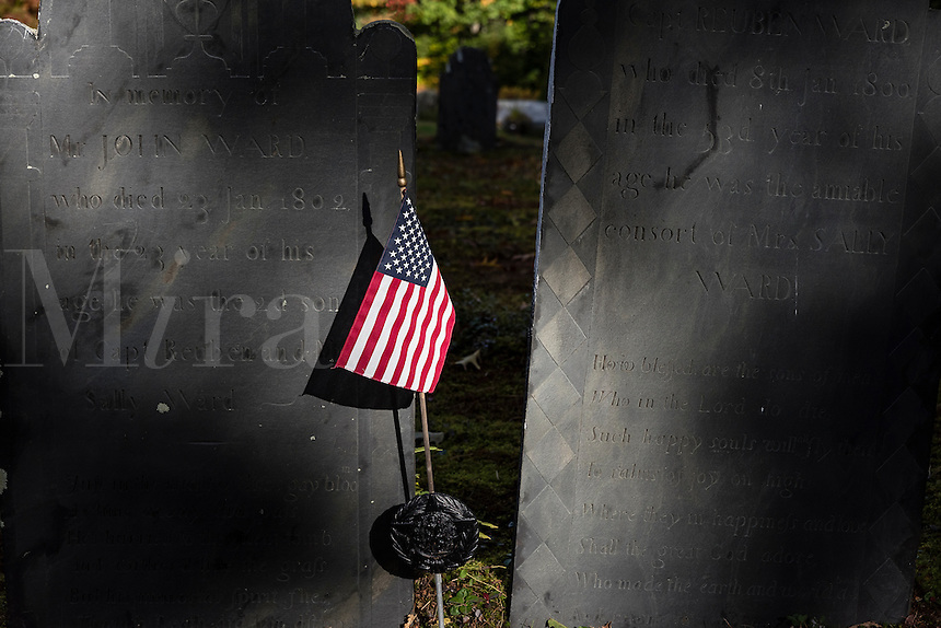 Ancient Quaker cemetery, Marlborough, New Hampshire, USA