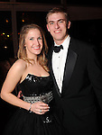 Kendall Niemann and Chris Condara at a private party aboard the Fertitta's yacht before the San Luis Salute in Galveston Friday  Feb. 08, 2013.(Dave Rossman/ For the Chronicle)