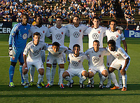 DC United Starting XI pose together for group photo before the game against the Earthquakes at Buck Shaw Stadium in Santa Clara, California on July 30th, 2011.   DC United defeated San Jose Earthquakes, 2-0.
