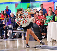 BNPS.co.uk (01202 558833)<br /> Pic: PWBA/BNPS<br /> <br /> Pictured: Verity Crawley bowling her way to her title victory<br /> <br /> Britain's only professional ten-pin bowler has won her first ever title after the pandemic forced her to train in her parents' hallway.<br /> <br /> Verity Crawley had to return to the UK after her American athlete's visa was unexpectedly denied in January this year.<br /> <br /> The 26-year-old resorted to padding her parents' 10ft long hallway with pillows and cushions so she could train every day as bowling alleys were shut during lockdown.