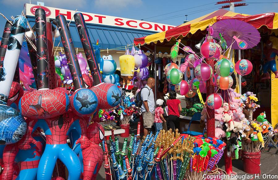 Colorful souvenirs dominate at The Puyalup Fair.  Western Washington State Fair.