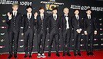 """GOT7, Jul 24, 2014 : South Korean boy band GOT7, attend a photo call before the 10th anniversary live special of weekly music chart show, """"M! Countdown"""" of Mnet in Goyang, north of Seoul, South Korea. (Photo by Lee Jae-Won/AFLO) (SOUTH KOREA)"""