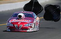 Jul. 30, 2011; Sonoma, CA, USA; NHRA pro stock driver Greg Anderson during qualifying for the Fram Autolite Nationals at Infineon Raceway. Mandatory Credit: Mark J. Rebilas-