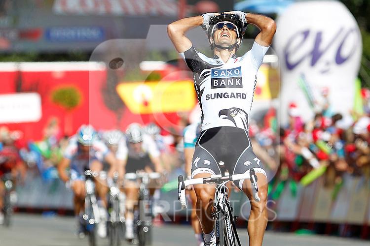 Juan Jose Haedo during during the stage of La Vuelta 2011 between Villa Romana La Olmeda and Haro.September 6,2011. (ALTERPHOTOS/Acero)