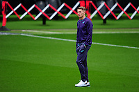 Viktor Gyökeres of Swansea City checks the pitch out prior to the Sky Bet Championship match between Swansea City and Millwall at the Liberty Stadium in Swansea, Wales, UK. Saturday 03 October 2020