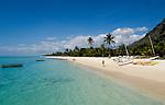 MUS, Mauritius, Black River, Le Morne: Hotel Dinarobin - Strand | MUS, Mauritius, Black River, Le Morne: Hotel Dinarobin - beach
