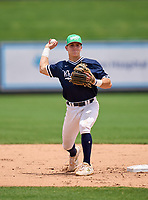 Wharton Wildcats infielder Zach Ehrhard (14) during practice before the 42nd Annual FACA All-Star Baseball Classic on June 5, 2021 at Joker Marchant Stadium in Lakeland, Florida.  (Mike Janes/Four Seam Images)