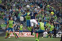 Seattle, Washington - Saturday April 29, 2017: Seattle Sounders FC vs New England Revolution. Final Score: Seattle Sounders FC 3, New England Revolution 3