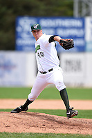 Jamestown Jammers pitcher Eric Dorsch (40) delivers a pitch during a game against the Mahoning Valley Scrappers on June 16, 2014 at Russell Diethrick Park in Jamestown, New York.  Mahoning Valley defeated Jamestown 2-1.  (Mike Janes/Four Seam Images)
