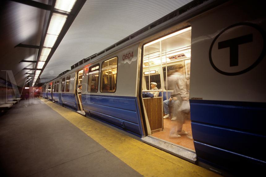 "Boston's rapid transit subway ""T"""
