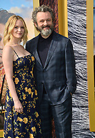 "LOS ANGELES, USA. January 11, 2020: Anna Lundberg & Michael Sheen at the premiere of ""Dolittle"" at the Regency Village Theatre.<br /> Picture: Paul Smith/Featureflash"