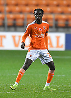 Blackpool's Cameron Antwi<br /> <br /> Photographer Dave Howarth/CameraSport<br /> <br /> EFL Trophy - Northern Section - Group G - Blackpool v Leeds United U21 - Wednesday 11th November 2020 - Bloomfield Road - Blackpool<br />  <br /> World Copyright © 2020 CameraSport. All rights reserved. 43 Linden Ave. Countesthorpe. Leicester. England. LE8 5PG - Tel: +44 (0) 116 277 4147 - admin@camerasport.com - www.camerasport.com