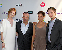 LOS ANGELES - AUG 1:  Sarah Rafferty, Rick Hoffman, Meghan Markle, Patrick J. Adams arriving at the NBC TCA Summer 2011 All Star Party at SLS Hotel on August 1, 2011 in Los Angeles, CA