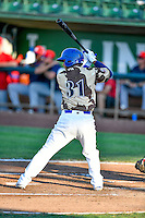 Keibert Ruiz (31) of the Ogden Raptors at bat against the Orem Owlz in Pioneer League action at Lindquist Field on July 29, 2016 in Ogden, Utah. Orem defeated Ogden 8-5. (Stephen Smith/Four Seam Images)