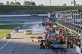#51: Brandon Jones, Kyle Busch Motorsports, Barracuda Pumps/Menards Toyota Tundra pit stop