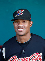 Michael Taylor #52 of the Sacramento RiverCats before a Pacific Coast League game against the Tucson Padres at Kino Stadium on June 24, 2011  in Tucson, Arizona. Bill Mitchell/Four Seam Images.