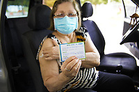 Recife (PE), 08/03/2021 - Posto de vacinação drive-thru, para idosos acima de 73 anos, contra a Covid-19, nesta segunda (08), no Parque da Macaxeira, bairro da Macaxeira, zona norte do Recife.