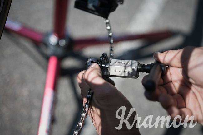 Team Trek-Segafredo prep for Paris-Roubaix 2017 1 day before the race