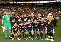 Starting eleven of D.C. United during the opening match of the 2011 season against the Columbus Crew at RFK Stadium, in Washington D.C. on March 19 2011.D.C. United won 3-1.
