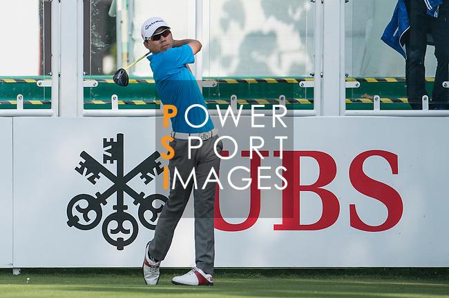 Terrence Ng of Hong Kong tees off the first hole during the 58th UBS Hong Kong Golf Open as part of the European Tour on 08 December 2016, at the Hong Kong Golf Club, Fanling, Hong Kong, China. Photo by Marcio Rodrigo Machado / Power Sport Images