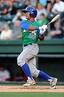 Center fielder Alfredo Escalera-Maldonado (26) of the Lexington Legends in a game against the Greenville Drive on Thursday, April 24, 2014, at Fluor Field at the West End in Greenville, South Carolina. Greenville won, 9-4. (Tom Priddy/Four Seam Images)