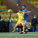 03.03.2021 Livingston v Rangers: Gavin Reilly and Connor Goldson