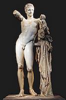 Hermes of Praxiteles (340-330 B.C.) in Olympia museum, Greece