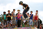 Pix: Shaun Flannery/shaunflanneryphotography.com...COPYRIGHT PICTURE>>SHAUN FLANNERY>01302-570814>>07778315553>>..3rd July 2011...........Area 51, Skate Jam, Anchorage Lane Skate Park..Kurtis Morris, freestyle scooter.
