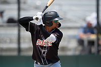 Jupiter Hammerheads Victor Victor Mesa (32) on deck during a Florida State League game against the Dunedin Blue Jays on May 16, 2019 at Jack Russell Memorial Stadium in Clearwater, Florida.  Dunedin defeated Jupiter 1-0.  (Mike Janes/Four Seam Images)