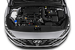 Car Stock 2020 Hyundai i30 Techno 5 Door Hatchback Engine  high angle detail view