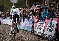 World Champion Sanne Cant (BEL/Beobank Corendon) up the Koppenberg.<br /> <br /> <br /> women's race.<br /> Koppenbergcross Belgium 2018