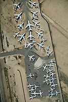 Airplane storage in Arizona desert