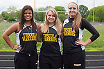 May 15, 2014- Tuscola, IL- 2014 Girls Track and Field Seniors from left are Felicia Tucker, Nicole Mannen, and Clarisa Phillips. [Photo: Douglas Cottle]