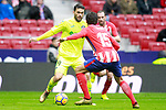 Atletico de Madrid's Stefan Savic (r) and Getafe CF's Lucas Hernandez during La Liga match. January 6,2018. (ALTERPHOTOS/Acero)