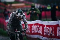 CX world champion Mathieu Van der Poel (NED/Alpecin-Fenix)<br /> <br /> UCI cyclo-cross World Cup Dendermonde 2020 (BEL)<br /> Men's Race<br /> <br /> ©kramon
